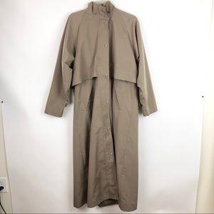 L.L. Bean Long Tan Rain Jacket Vintage Style